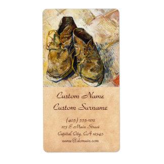 A Pair of Shoes Vincent van Gogh fine art painting Label