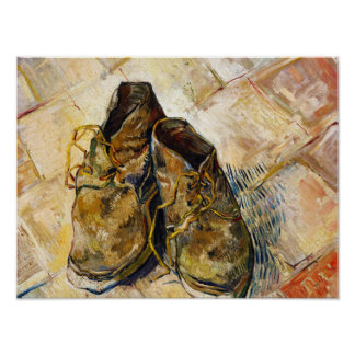 A Pair of Shoes Vincent van Gogh fine art painting Poster