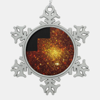 A Pair of Star Clusters in the Large Magellanic Snowflake Pewter Christmas Ornament