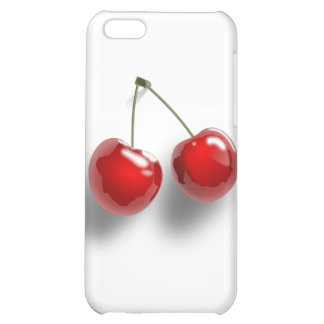 A Pair of Two Red Shinny Cherries on their Stem iPhone 5C Cases