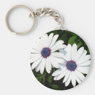 A Pair of White African Daisies Basic Round Button Keychain