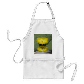 A Pair of Yellow Prickly Pear Flowers Adult Apron