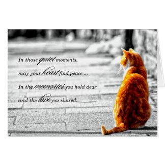 A-PAL - Condolencia anaranjada del mascota del gat Tarjetas