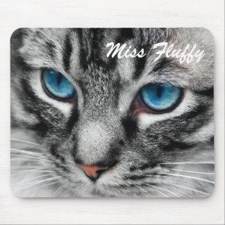 A-PAL - El gato de Tabby de plata con los ojos azu Alfombrilla De Raton