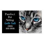 A-PAL - El gato de Tabby de plata con los ojos azu Plantillas De Tarjetas De Visita