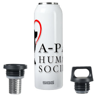 A-PAL - Heart Logo   Custom Name Water Bottle 16 Oz Insulated SIGG Thermos Water Bottle