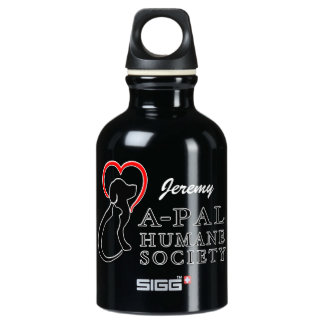 A-PAL - Heart Logo   Custom Name Water Bottle SIGG Traveler 0.3L Water Bottle