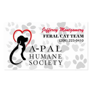 A-PAL Logo and PawsPartners | Custom Business Card