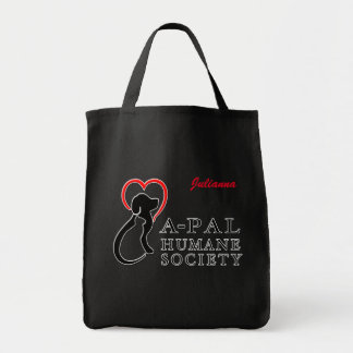 A-PAL Logo Custom Name Grocery Tote Bag