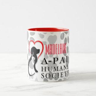 A-PAL Logo Custom Name Two-Tone Coffee Mug