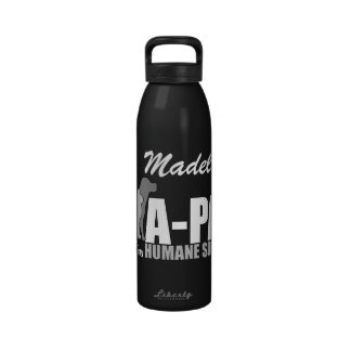 A-PAL - Nombre BLANCO del personalizado del logoti Botella De Beber