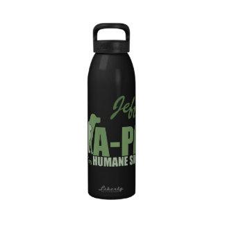 A-PAL - Nombre verde claro del personalizado del l Botella De Agua Reutilizable