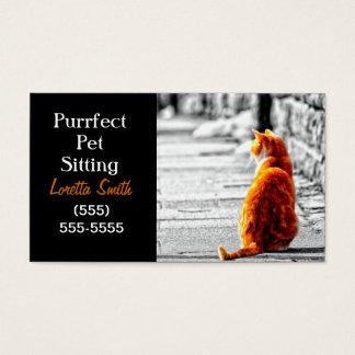 A-PAL Tinted Orange Tabby Cat Painting Custom Business Card