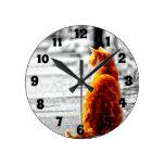 A-PAL Tinted Orange Tabby Cat Painting Custom Clocks