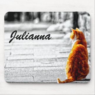 A-PAL Tinted Orange Tabby Cat Painting Custom Mouse Pad