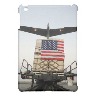 A pallet containing humanitarian relief supplie case for the iPad mini