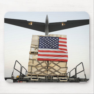 A pallet containing humanitarian relief supplie mouse pad