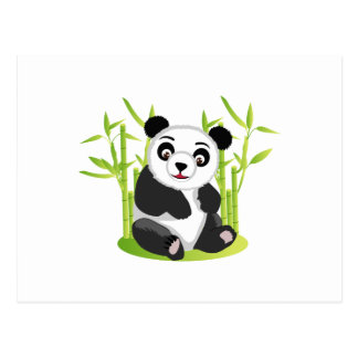 A Panda and his Bamboo Postcard