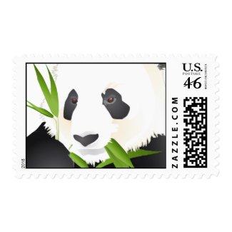 A Panda Bear stamp
