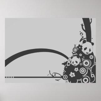 A Panda Pattern 2 Print