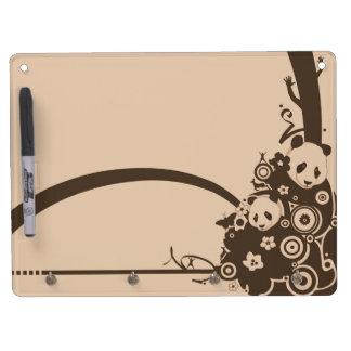A Panda Pattern Dry Erase White Board
