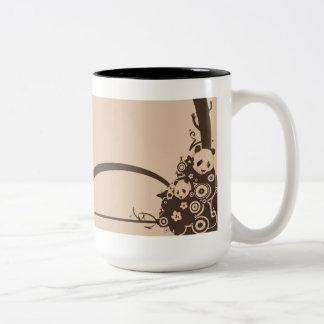 A Panda Pattern Two-Tone Coffee Mug