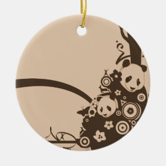 A Panda Pattern Christmas Ornaments