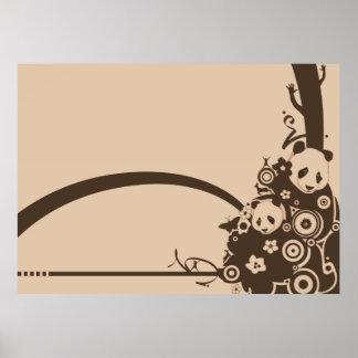 A Panda Pattern Posters