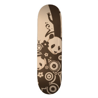 A Panda Pattern Skateboard
