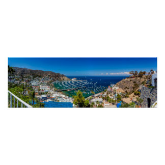 A Panorama of Avalon on Catalina Island Poster
