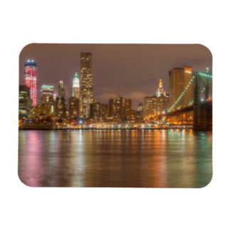 A panorama of the New York City skyline Magnet