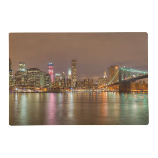 A panorama of the New York City skyline Placemat