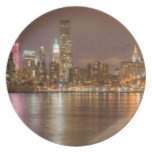 A panorama of the New York City skyline Dinner Plates