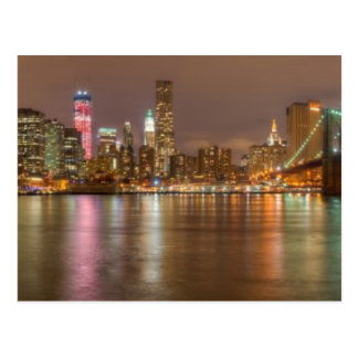 A panorama of the New York City skyline Postcard