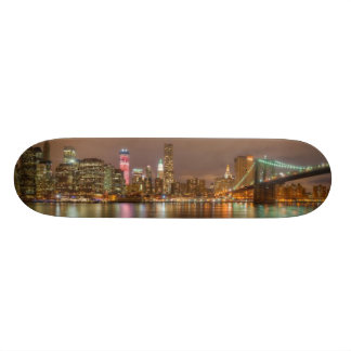 A panorama of the New York City skyline Skateboard Deck