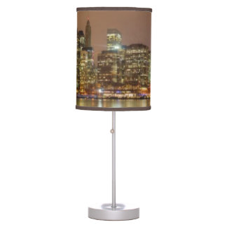 A panorama of the New York City skyline Table Lamp