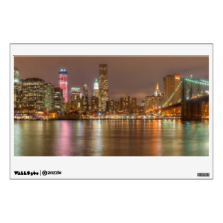 A panorama of the New York City skyline Wall Sticker