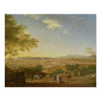 A Panoramic View of Florence from Bellosguardo, 17 Poster