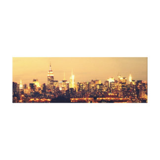 A Panoramic View of Manhattan at Dawn Empire State Canvas Print