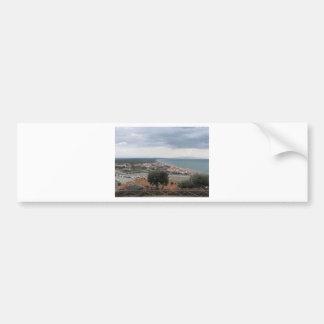 A panoramic view of the Tuscany coastline in Casti Bumper Sticker