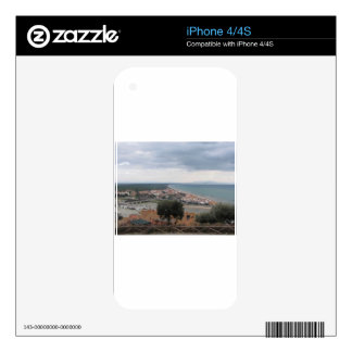 A panoramic view of the Tuscany coastline in Casti iPhone 4 Skin