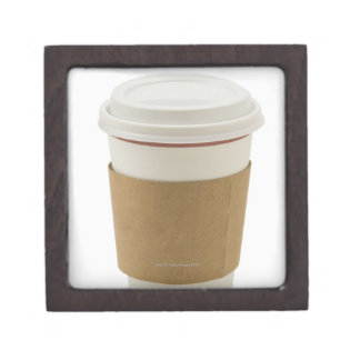A paper coffee Cup Jewelry Box