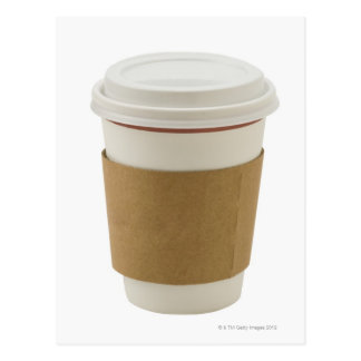 A paper coffee Cup Postcard