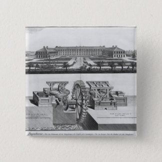 A paper mill pinback button