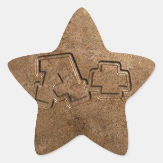 A+ Paper Star Sticker