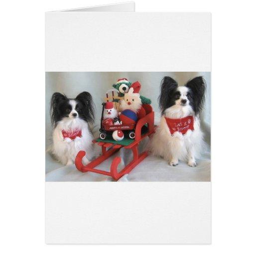 A PAPILLON CHRISTMAS GREETING CARD