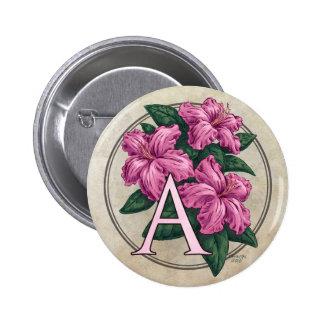 A para el botón redondo del monograma de la flor