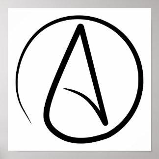 """""""A"""" para el poster del ateísmo"""