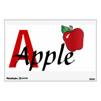 A para la etiqueta de la pared de Apple