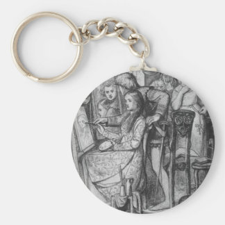 A Parable of Love by Dante Gabriel Rossetti Basic Round Button Keychain